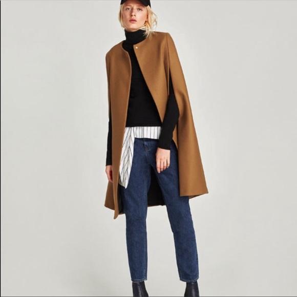 0a632e3c337fe Zara Jackets & Coats | Nwt Wool Camel Cape Size Xs | Poshmark